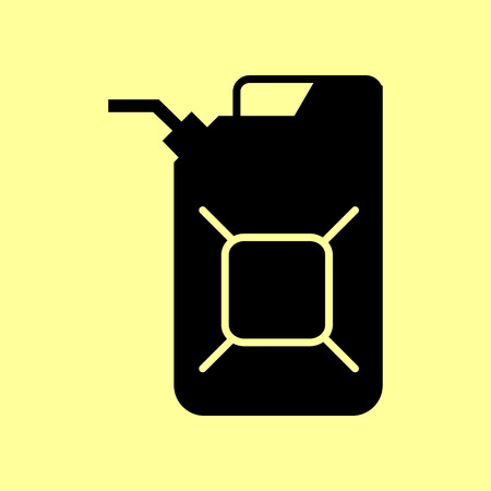 filler: Jerrycan oil sign. Flat style icon vector illustration.