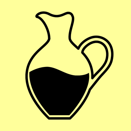 amphora: Amphora sign. Flat style icon vector illustration.