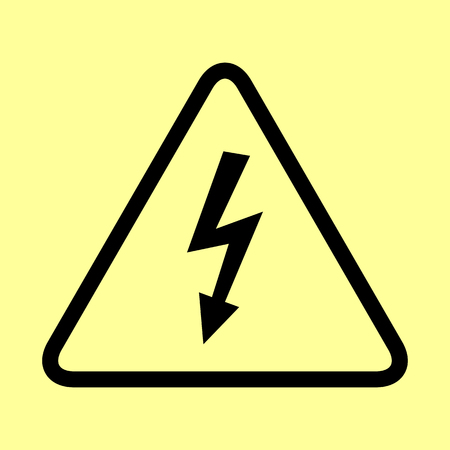 volte: High voltage danger sign. Flat style icon vector illustration. Illustration