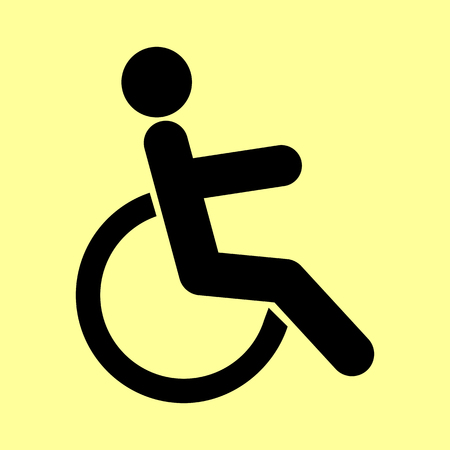 disabled sign: Disabled sign. Flat style icon vector illustration. Illustration