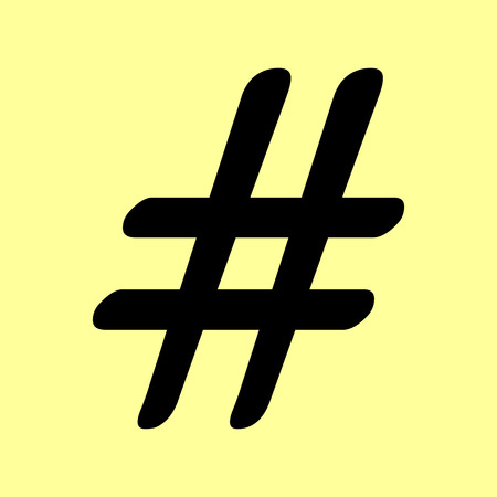 microblogging: Hashtag sign. Flat style icon vector illustration.