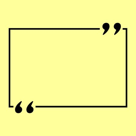 Text quote sign. Flat style icon vector illustration. 矢量图像