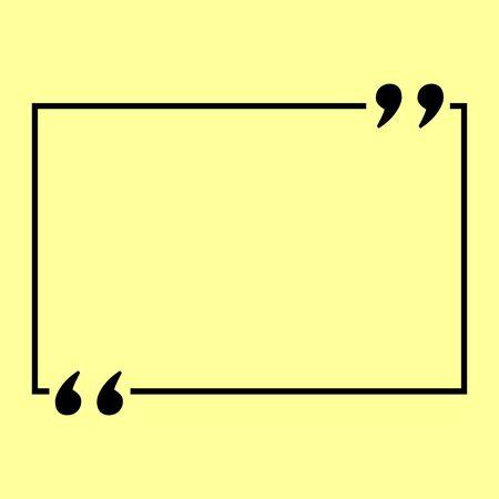 Text quote sign. Flat style icon vector illustration. Ilustração