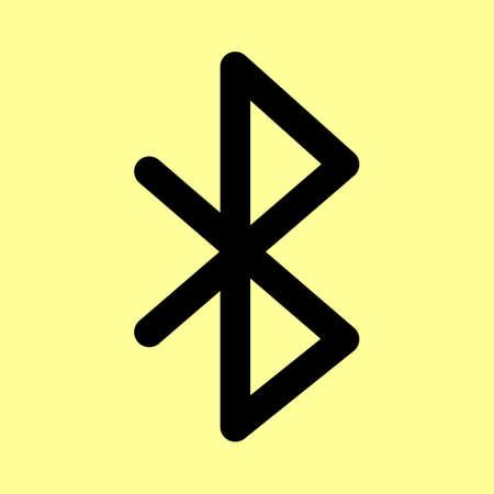 bluetooth: Bluetooth sign. Flat style icon vector illustration.