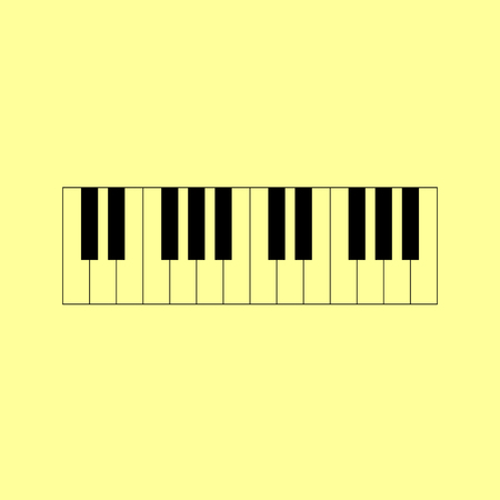 Piano Keyboard  sign. Flat style icon vector illustration.