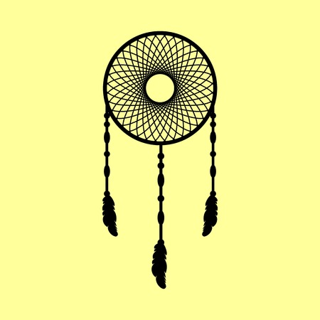 swelled: Dream catcher sign. Flat style icon vector illustration.