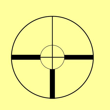 crosshair: Crosshair Target  sign. Flat style icon vector illustration. Illustration