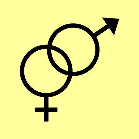 sex symbol: Sex symbol sign. Flat style icon vector illustration. Illustration