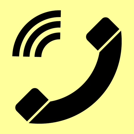 Phone sign. Flat style icon vector illustration.