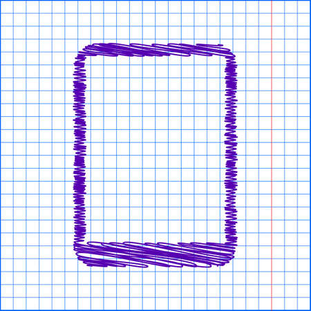 touch sensitive: Vector computer tablet with with pen and paper effect