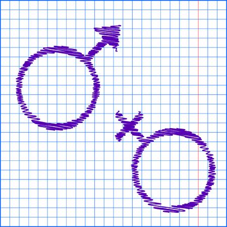 sex symbol: Sex symbol. Vector illustration with chalk effect Illustration
