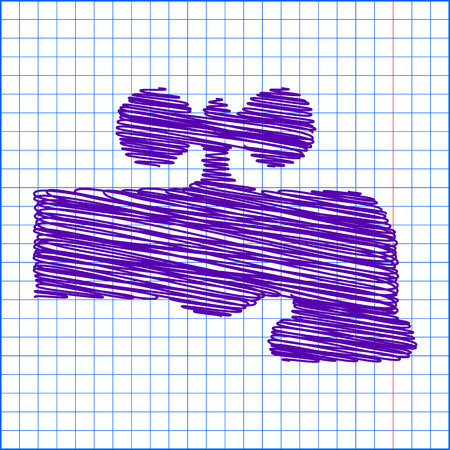 spew: The water faucet icon with pen and school paper effect Illustration