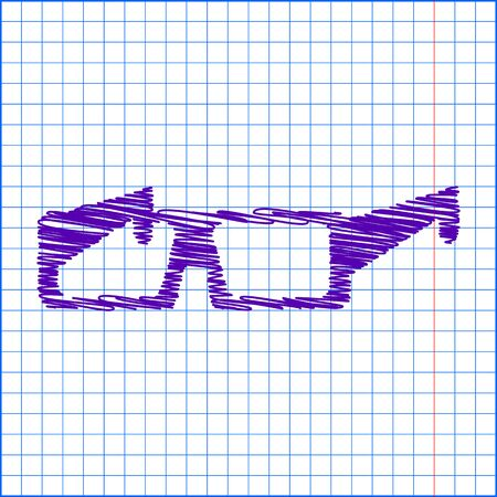 dresscode: Tie icon with pen and school paper effect