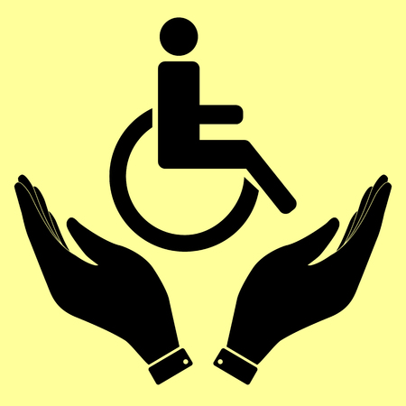 accessible: Disabled sign. Flat style icon vector illustration. Illustration