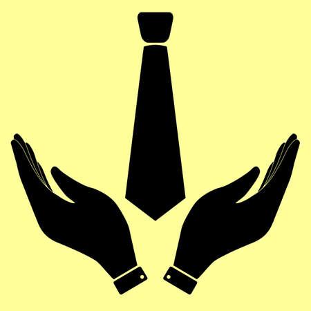 dresscode: Tie sign. Flat style icon vector illustration. Illustration