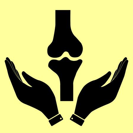 Knee signe commun. icône vecteur plat de style illustration. Vecteurs