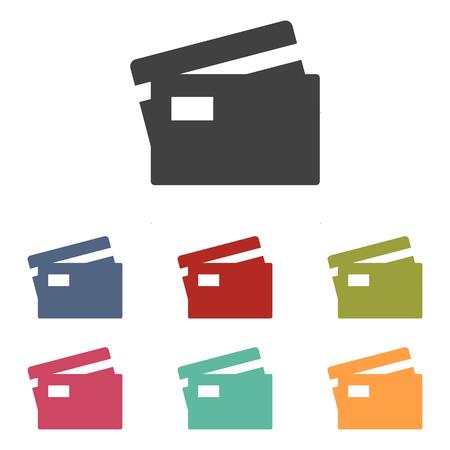 transact: Credit Card Icons set isolated on white background