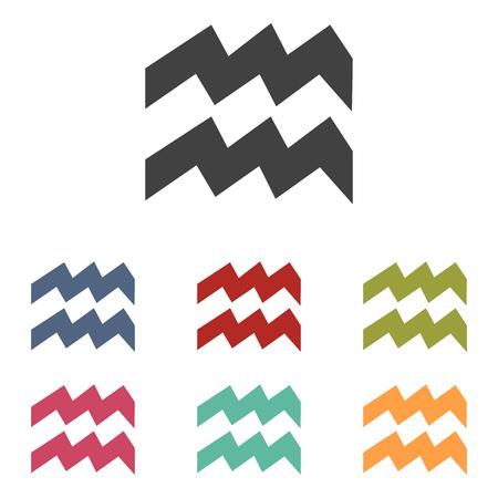 abstract aquarius: Zodiac icons set isolated on white background