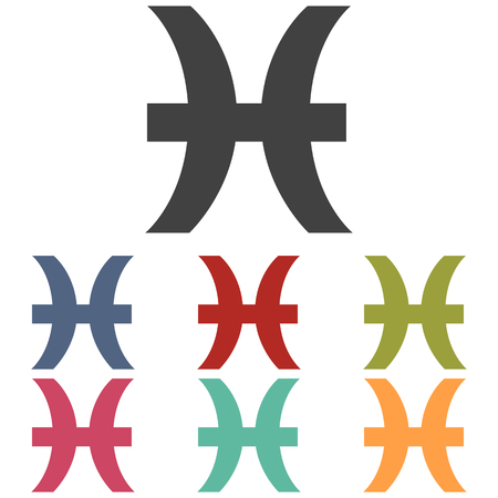 Zodiac icons set isolated on white background