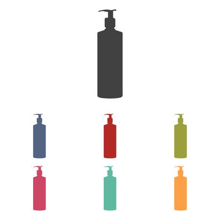 liquid soap: Gel, Foam Or Liquid Soap Dispenser Pump Plastic Bottle silhuette