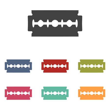 razor blade: Vector razor blade icons set isolated on white background Illustration