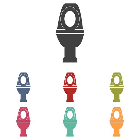 toilet icons: Toilet icons set isolated on white background
