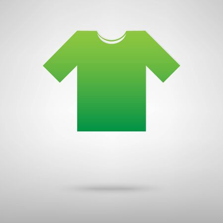 t short: T-shirt icon with shadow on gray background Illustration