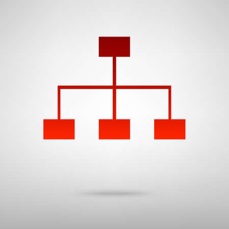 site map: Site map red icon on the grey background
