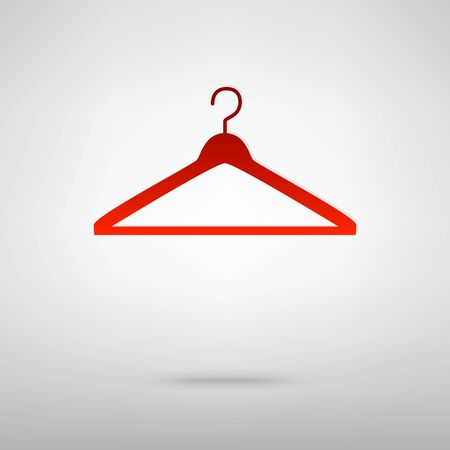 Hanger red icon on the grey background