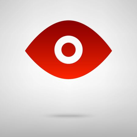 eye red: Eye red icon on the grey background