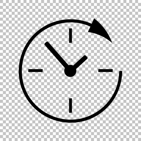 Service en ondersteuning voor klanten de klok rond en 24 uur. Vlakke stijl. Vector illustratie.