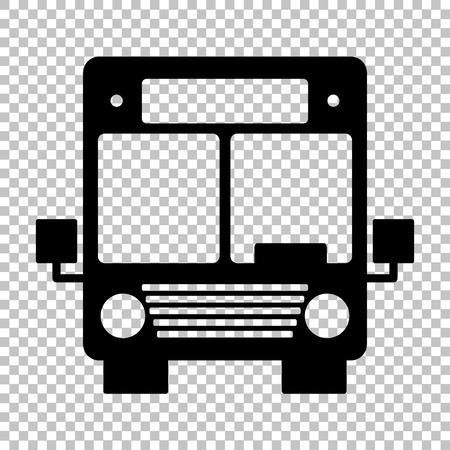 Signe de Bus. Flat icône de style sur fond transparent