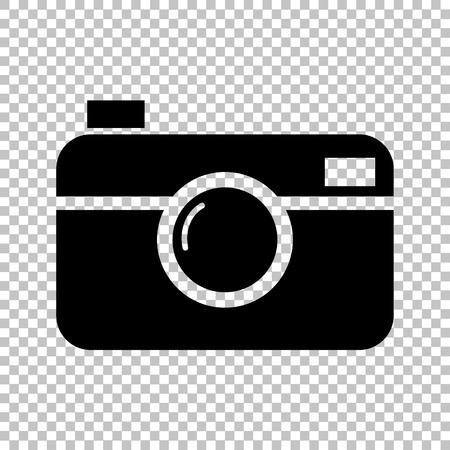 whim of fashion: Digital photo camera icon. Flat style icon on transparent background