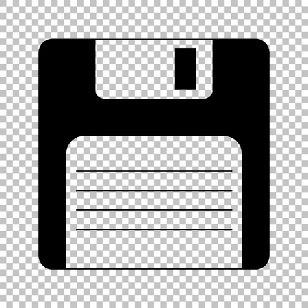 old pc: Floppy disk sign. Flat style icon on transparent background