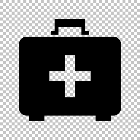 firstaid: First aid box sign. Flat style icon on transparent background