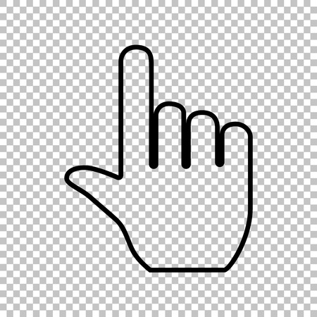 Hand sign. Flat style icon on transparent background Illustration