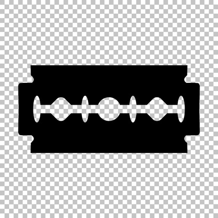 razor blade: Razor blade sign. Flat style icon on transparent background
