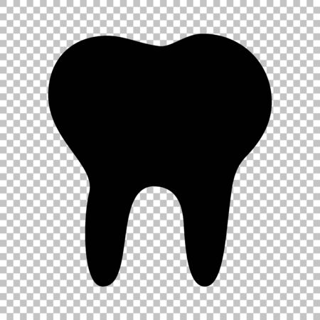 toothcare: Tooth sign. Flat style icon on transparent background