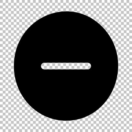 minus sign: Negative symbol. Minus sign. Flat style icon on transparent background Illustration