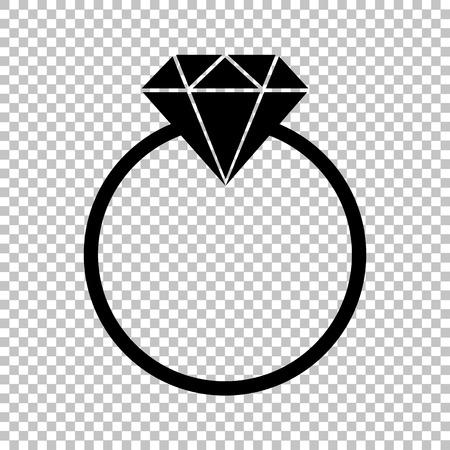 bijou: Diamond sign. Flat style icon on transparent background Illustration