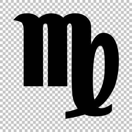 ecliptic: Virgo sign. Flat style icon on transparent background Illustration