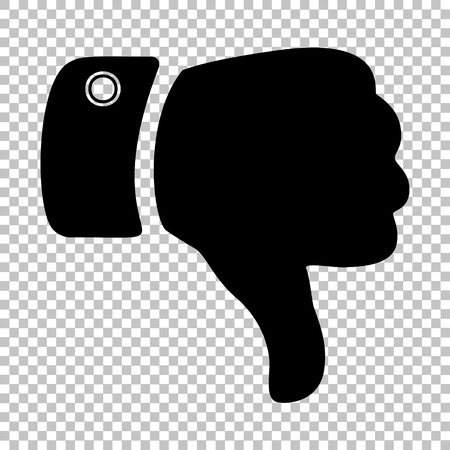 disapprove: Hand sign. Flat style icon on transparent background Illustration