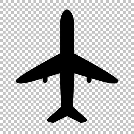 Airplane sign. Flat style icon on transparent background