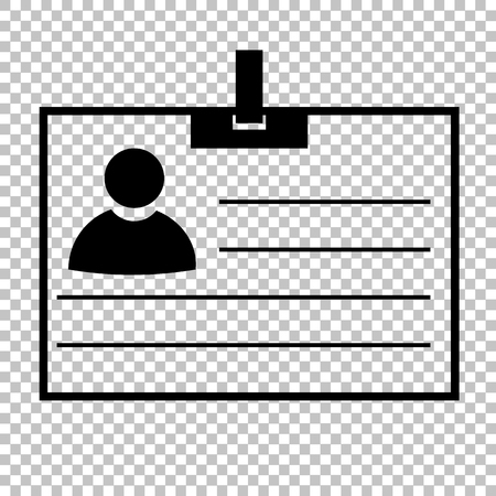 recognizing: Id card sign. Flat style icon vector illustration.