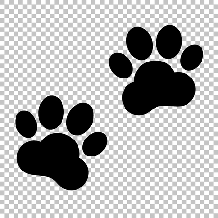 huellas de animales: Pistas animales firman. icono de estilo plano en el fondo transparente Vectores