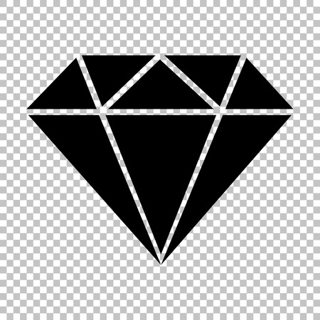 karat: Diamond sign. Flat style icon on transparent background Illustration