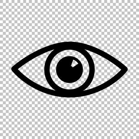 Eye sign. Flat style icon on transparent background