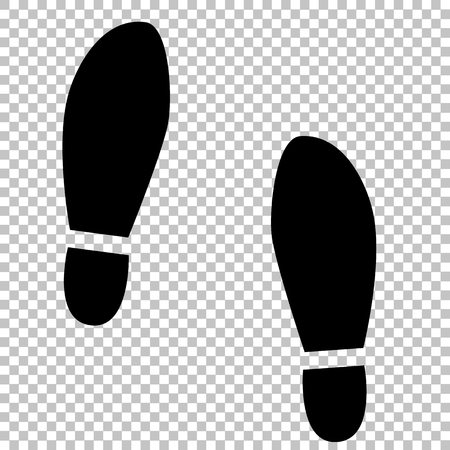 and soles: Imprint soles shoes sign. Flat style icon on transparent background