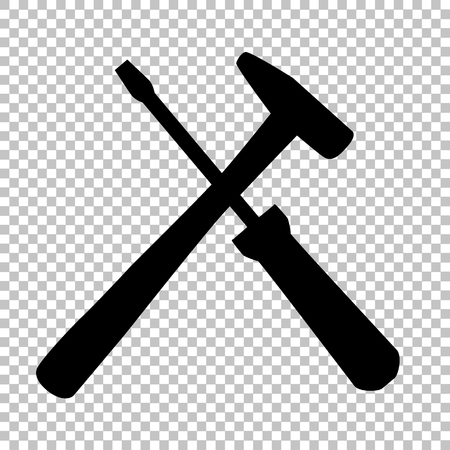 turn screw: Tools sign. Flat style icon on transparent background