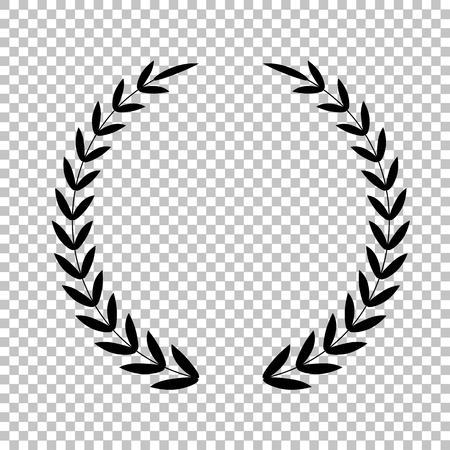 Laurel Wreath sign. Flat style icon on transparent background Illustration
